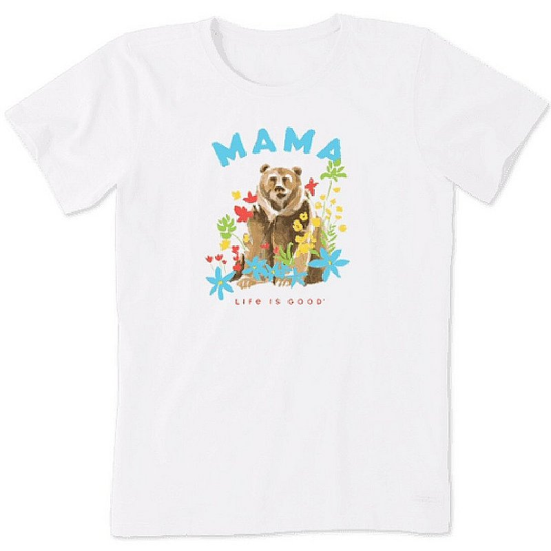 Life is good Women's Mama Bear Flowers Crusher Tee Shirt 75074 (Life is good)