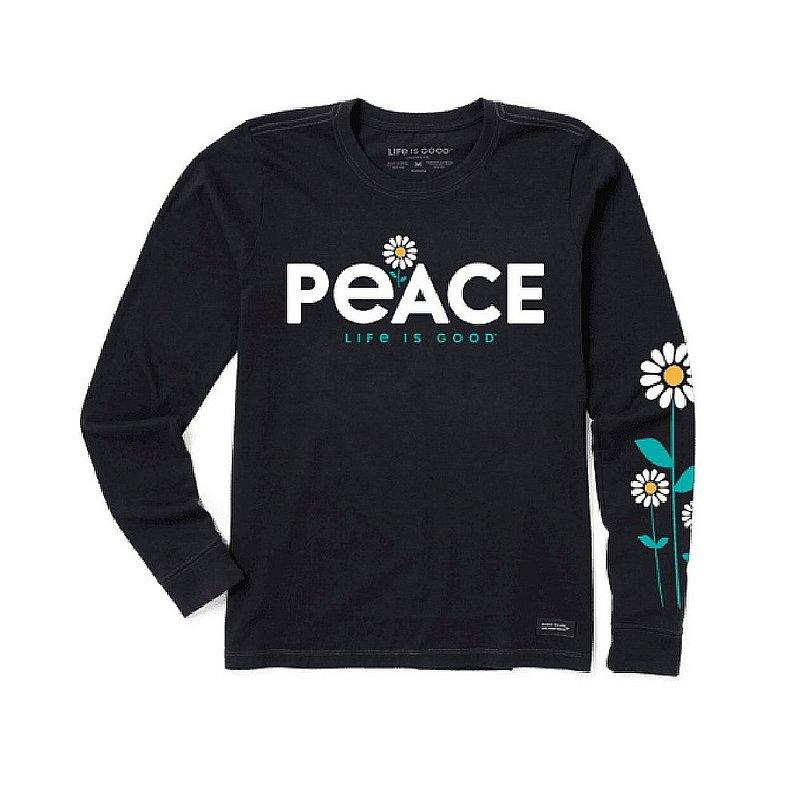 Life is good Women's Peace Daisies Long Sleeve Crusher Tee Shirt 73435 (Life is good)