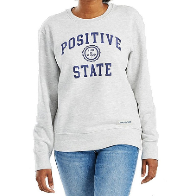 Life is good Women's Positive State Simply True Fleece Crew Sweatshirt 68788 (Life is good)