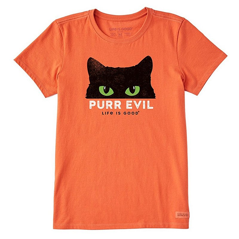 Life is good Women's Purr Evil Crusher Tee Shirt 76976 (Life is good)