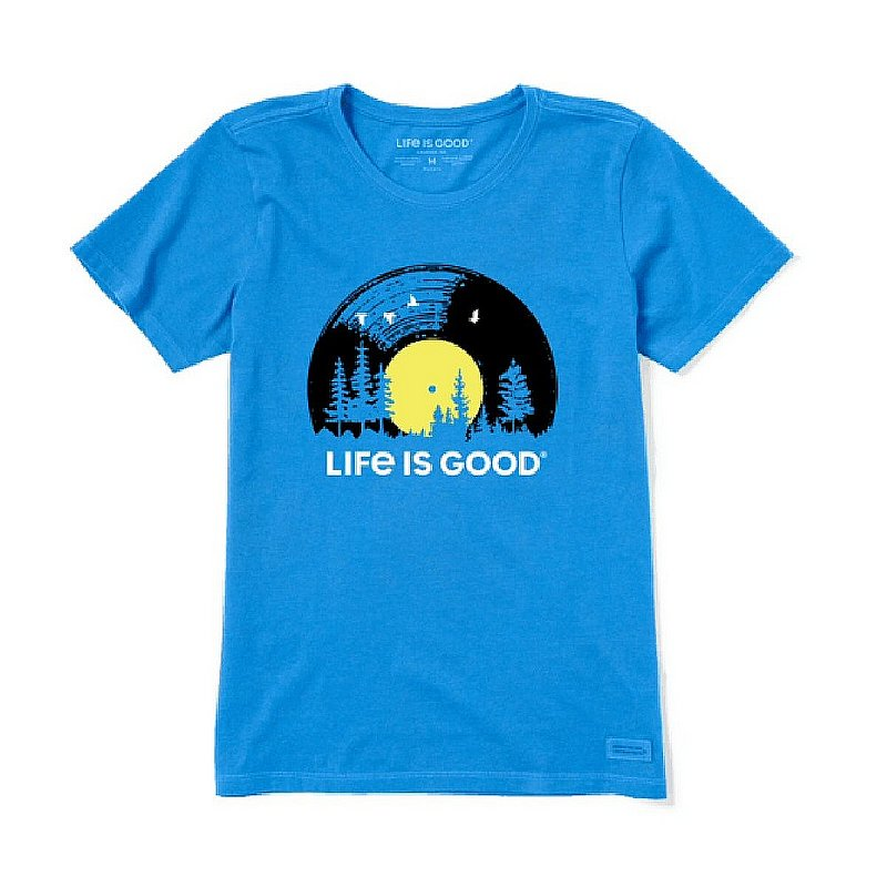 Life is good Women's Vinyl Sunset Crusher-Lite Crew Shirts 73231 (Life is good)