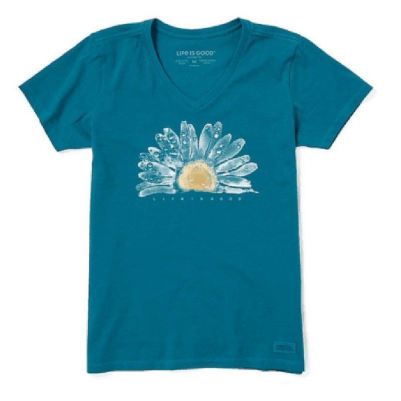 Women's Watercolor Daisy Short Sleeve Vee Shirt