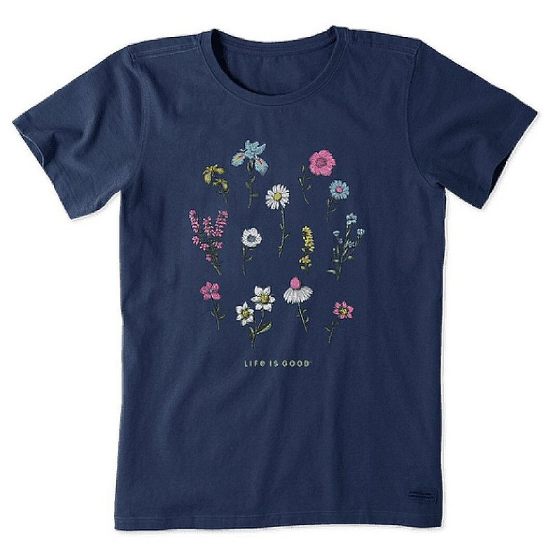 Life is good Women's Wildflower Fields Forever Crusher-LITE Tee Shirt 69551 (Life is good)