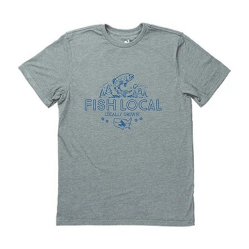 Locally Grown Clothing Co. Men's Fish Local Tee Shirt MFISHLOCALSS (Locally Grown Clothing Co.)