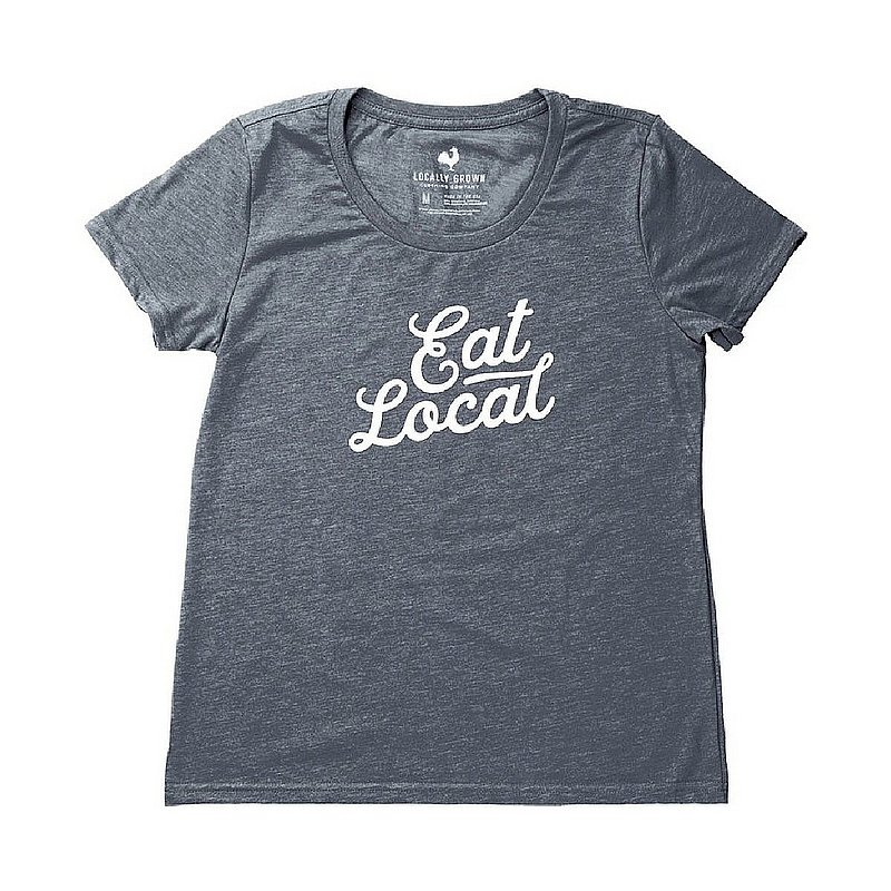 Locally Grown Clothing Co. Women's Eat Local Tee Shirt WEATLOCALCURSS (Locally Grown Clothing Co.)