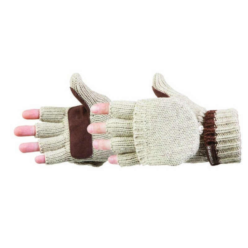 Manzella Productions Men's Ragwool Knit Flip Top Glove O599M (Manzella Productions)