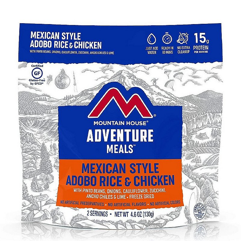 Mountain House Mexican Adobo Rice & Chicken Pouch Meal 55176 (Mountain House)