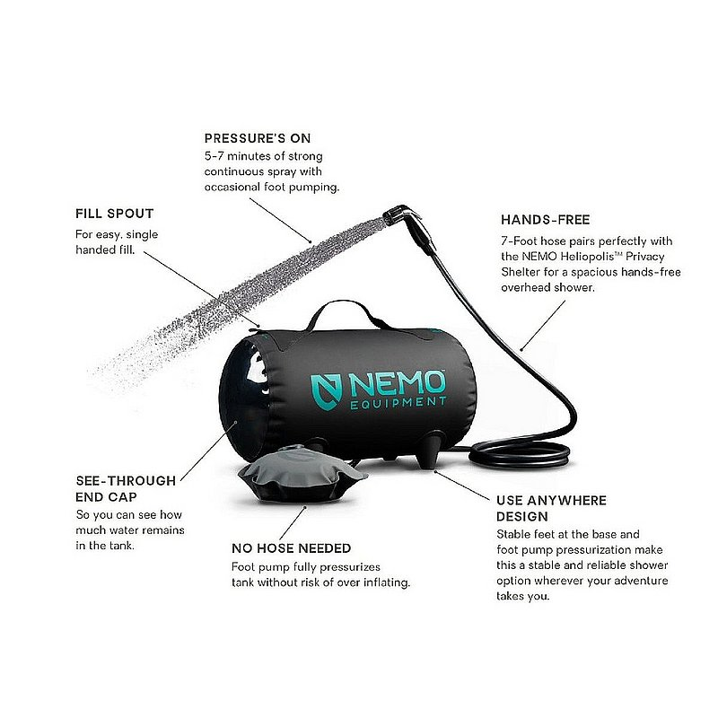 Nemo Equipment, Inc Helio Pressure Shower HELIO (Nemo Equipment, Inc)