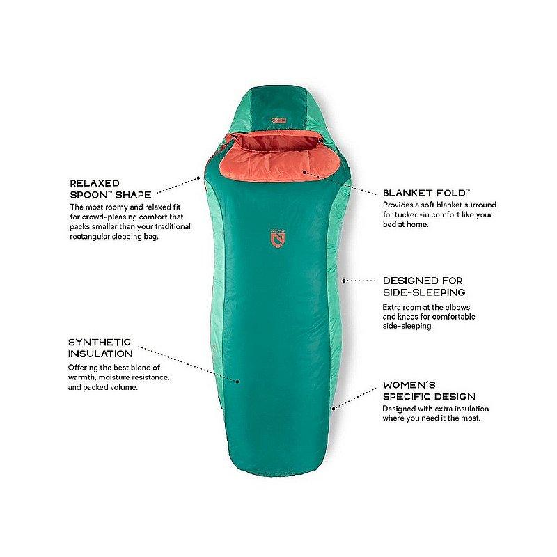 Nemo Equipment, Inc Women's Tempo Synthetic Sleeping Bag TEMPO50W (Nemo Equipment, Inc)