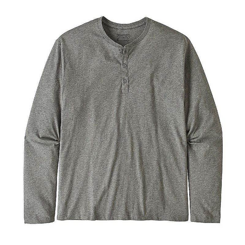Men's Long- Sleeved Organic Cotton Lightweight Henley Pullover Shirt