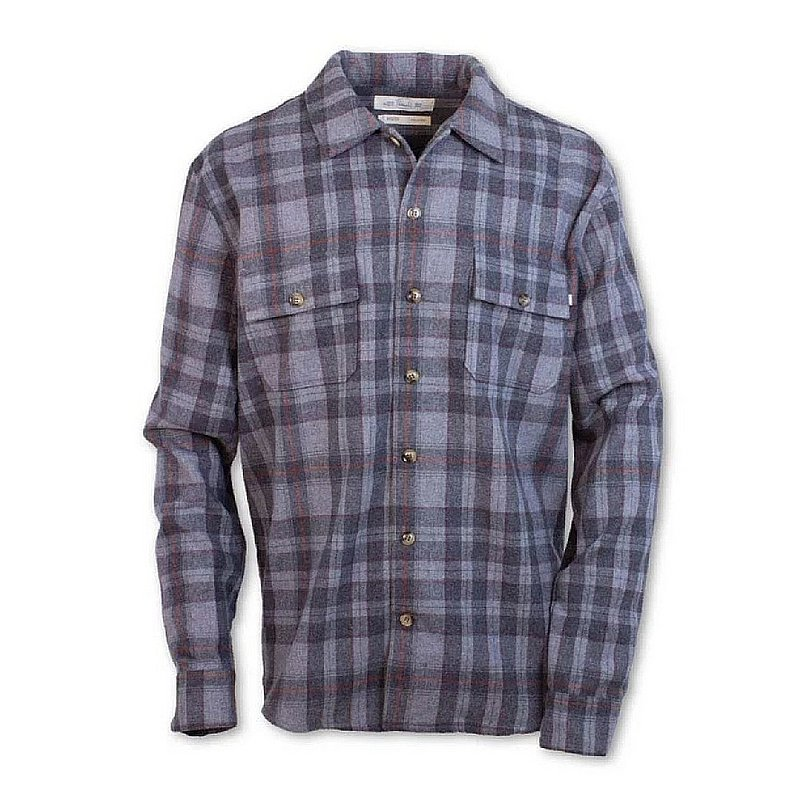 Purnell Men's Double Pocket Plaid Wool Shirt 10104566 (Purnell)