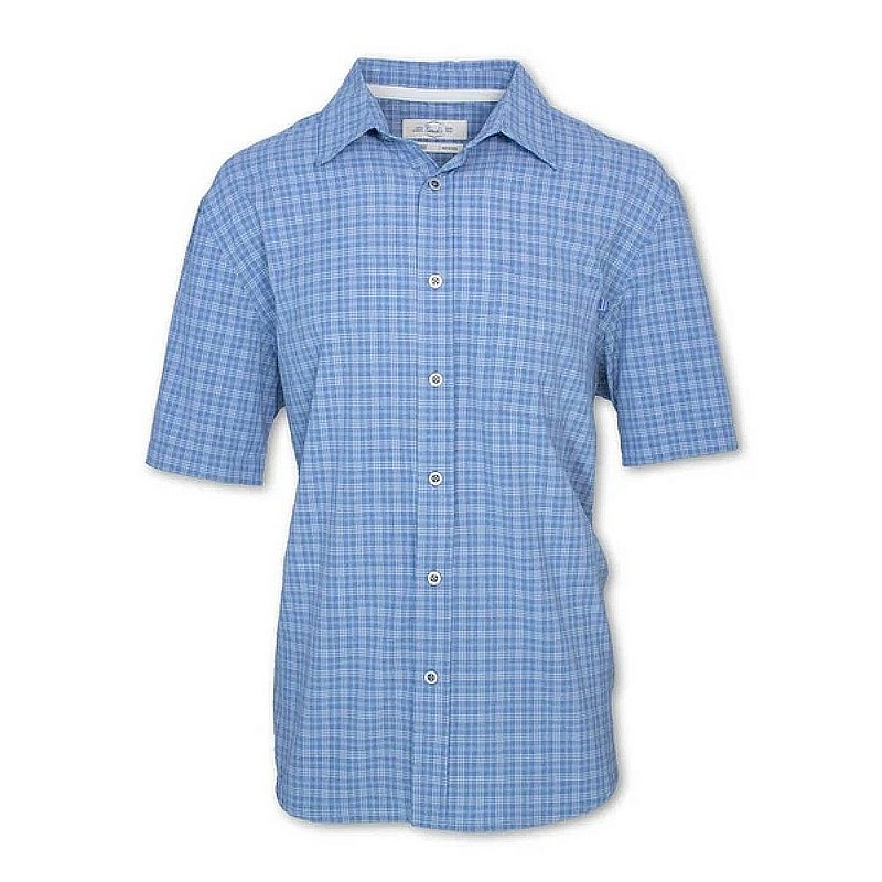 Purnell Men's Short-Sleeved Quick Dry Micro Plaid Shirt 10104001 (Purnell)