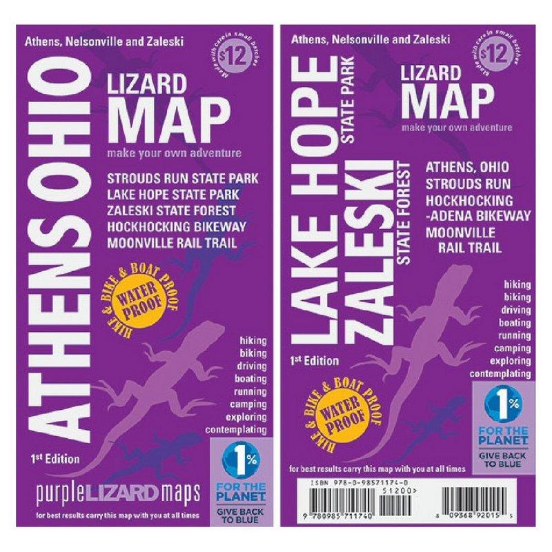 Purple Lizard Pub. Athens Ohio Map ATHENSOHIO (Purple Lizard Pub.)