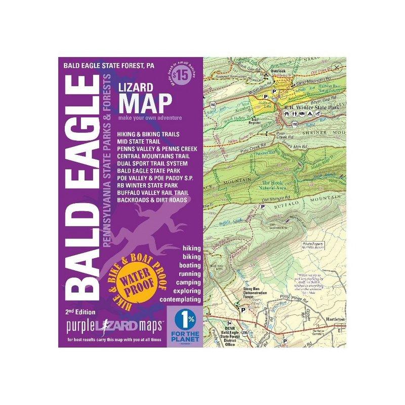 Purple Lizard Pub. Bald Eagle Lizard Map 2nd Edition BALDEAGLEV2 (Purple Lizard Pub.)