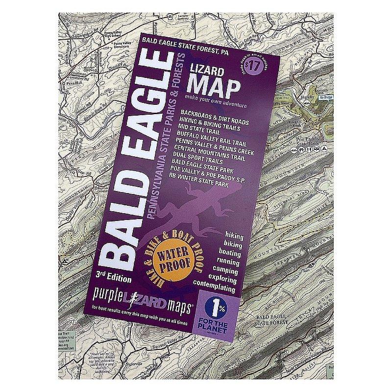 Purple Lizard Pub. Bald Eagle Lizard Map 3rd Edition BALDEAGLEV3 (Purple Lizard Pub.)