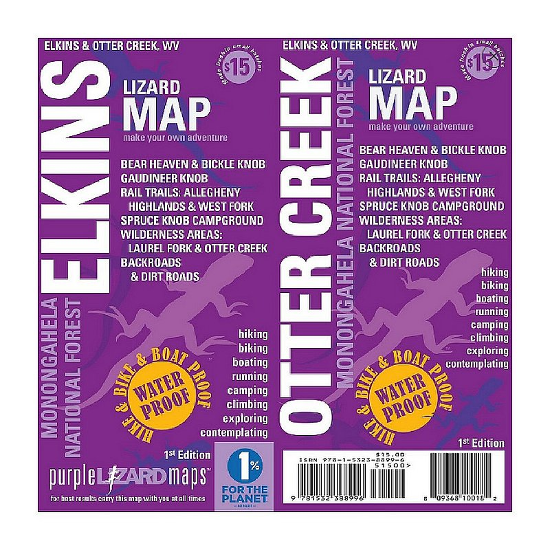 Purple Lizard Pub. Elkins-Otter Creek Map ELKINSOTTER (Purple Lizard Pub.)