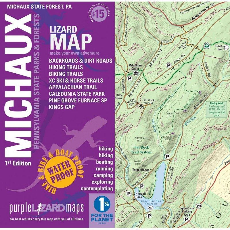 Purple Lizard Pub. Dolly Sods- Seneca Rocks WV Map DOLLSEN