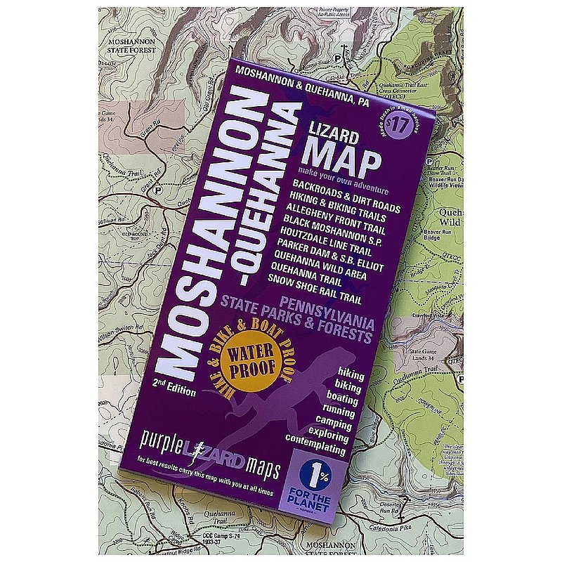 Purple Lizard Pub. Moshannon & Quehanna Lizard Map--2nd Edition MOSSHQUEHV2 (Purple Lizard Pub.)