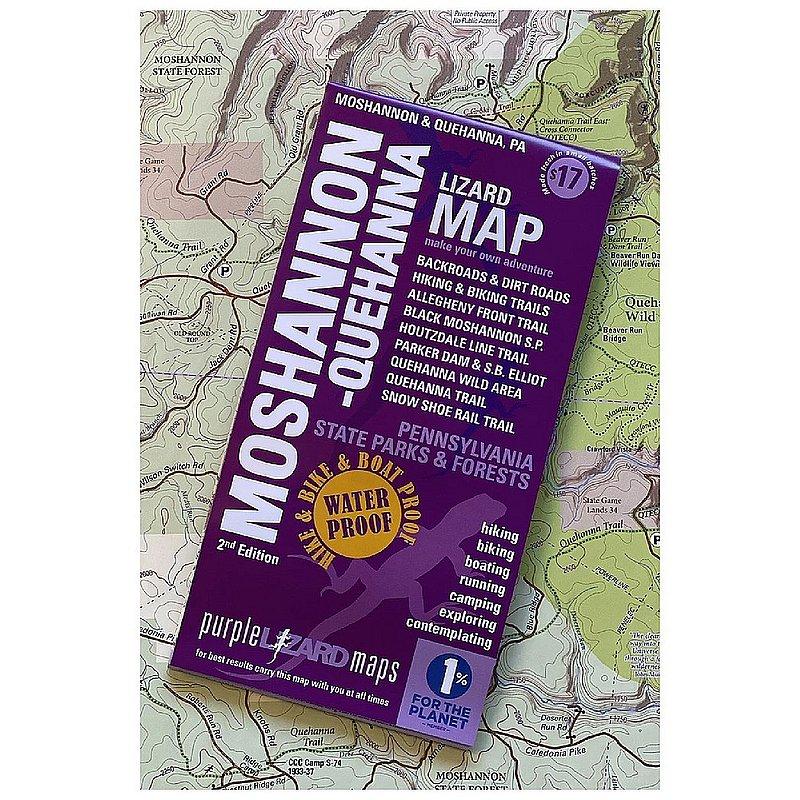 Purple Lizard Pub. Moshannon & Quehanna Lizard Map--2nd Edition MOSSHQUEHV2 (Purple Lizard Pub.)