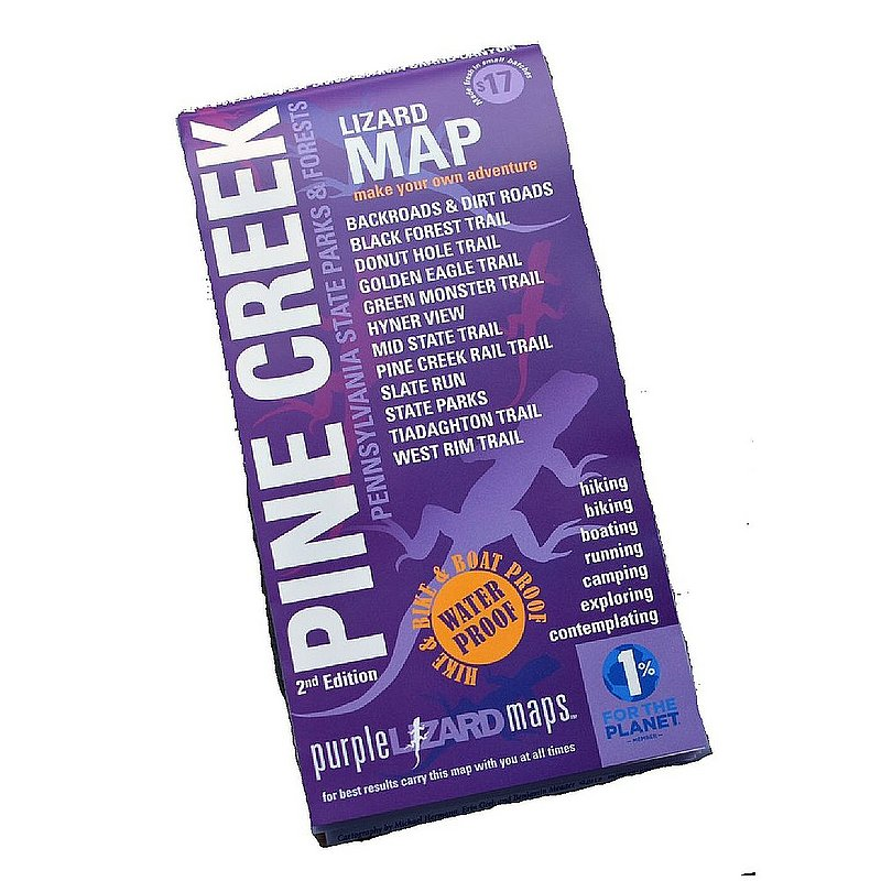 Purple Lizard Pub. Pine Creek Lizard Map--Grand Canyon of Pennsylvania PINECREEKV2 (Purple Lizard Pub.)