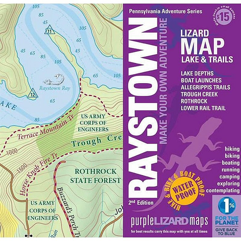 Purple Lizard Pub. Raystown Lake Trail Map RAYSTOWN (Purple Lizard Pub.)