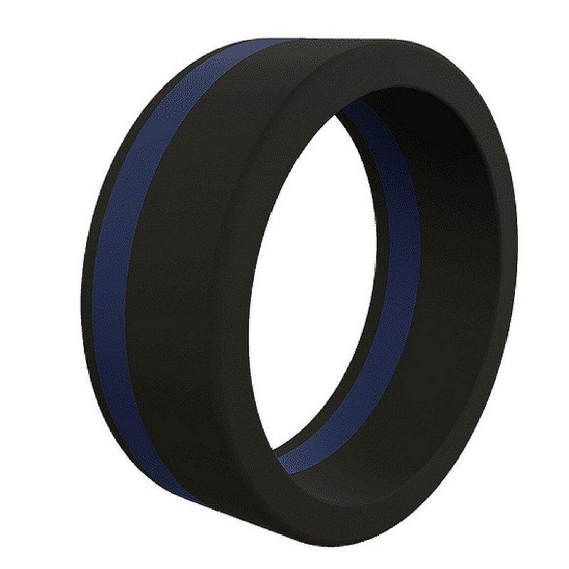 Qalo Corp Men's Thin Blue Line Silicone Ring--Size 11 QS9-MPL11 (Qalo Corp)