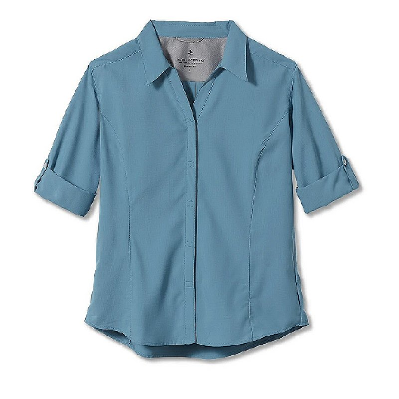Royal Robbins Women's Expedition Chill Stretch 3/4 Sleeve Button Up Shirt Y32134 (Royal Robbins)