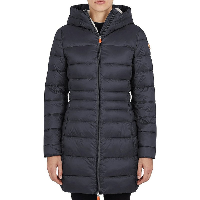 Save The Duck Women's GIGA Hooded Coat with Faux Lambskin Lining S4662W (Save The Duck)