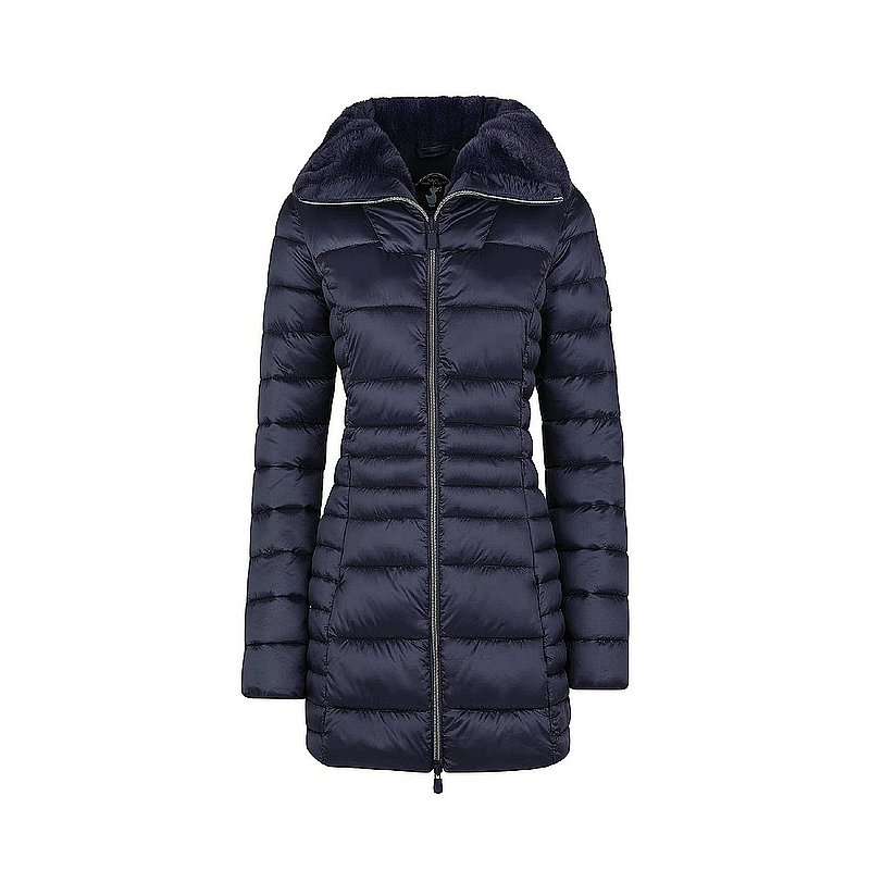 Save The Duck Women's IRIS Winter Stand Up Collar Coat with Faux Fur Lining S4366W (Save The Duck)