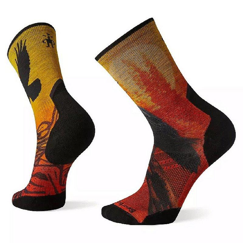 Smartwool Men's Athlete Edition Run Raven Print Crew Socks SW001539 (Smartwool)