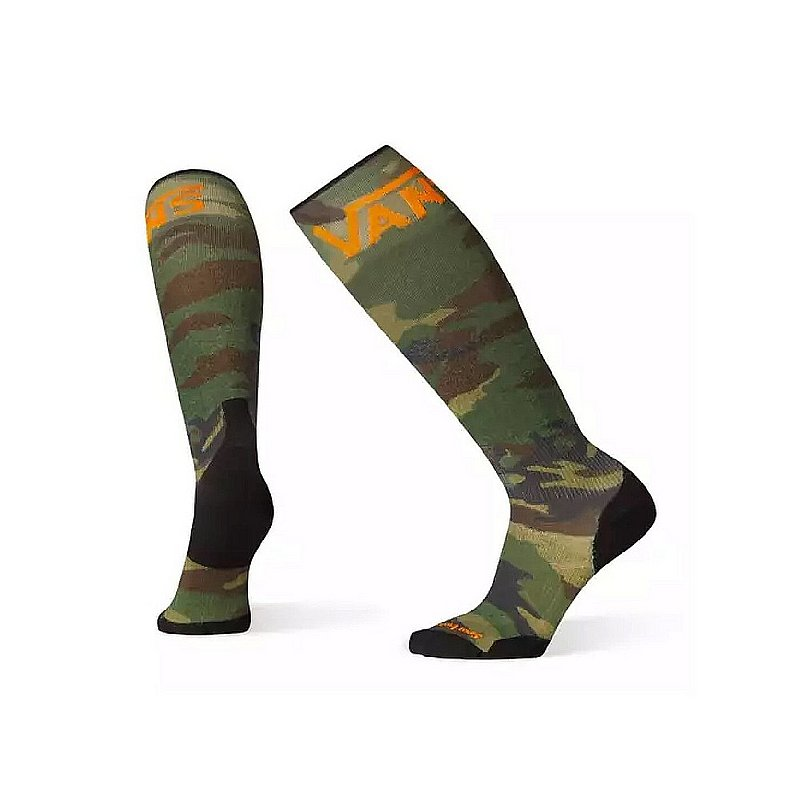 Smartwool Men's PhD Snowboard VANS Woodland Camo Print Light Elite Socks SW001434 (Smartwool)