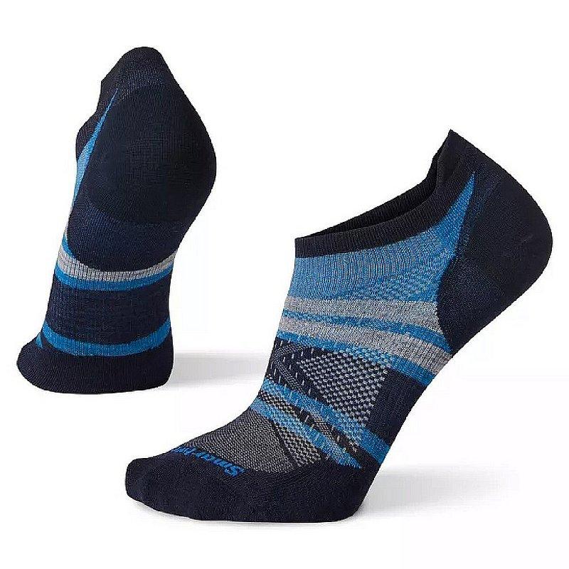 Smartwool Men's Run Zero Cushion Pattern Low Ankle Socks SW001403 (Smartwool)