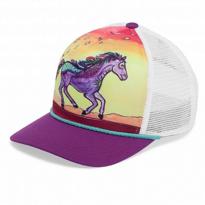 Sunday Afternoons Kids' Horse Feather Cooling Trucker Hat S2D04725 (Sunday Afternoons)