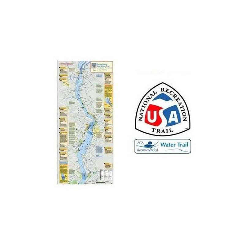 Susquehana River Trail Assoc. Susquehanna River Trail Map and Guide - Lower 103460 (Susquehana River Trail Assoc.)