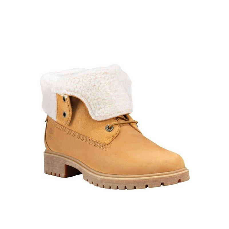 Timberland Company Women's Jayne Waterproof Teddy Fleece Fold-Down Boots TB0A1SGA231 (Timberland Company)