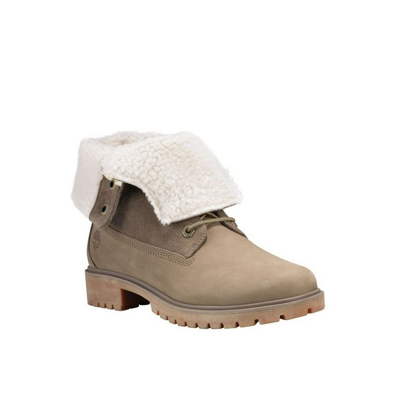 Timberland Company Women's Jayne Waterproof Teddy Fleece Fold-Down Boots TB0A1SGB838 (Timberland Company)