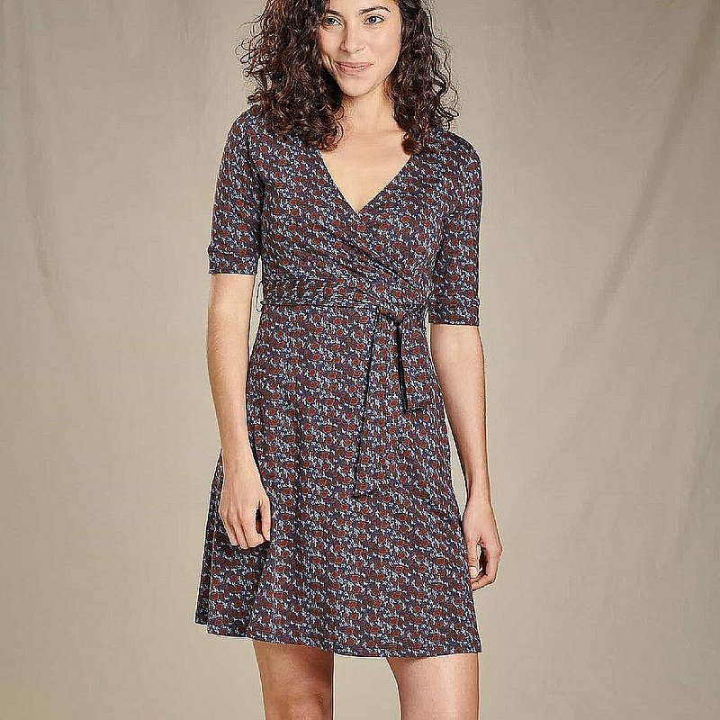 Toad & Co Women's Cue Wrap Cafe Dress T1772808 (Toad & Co)