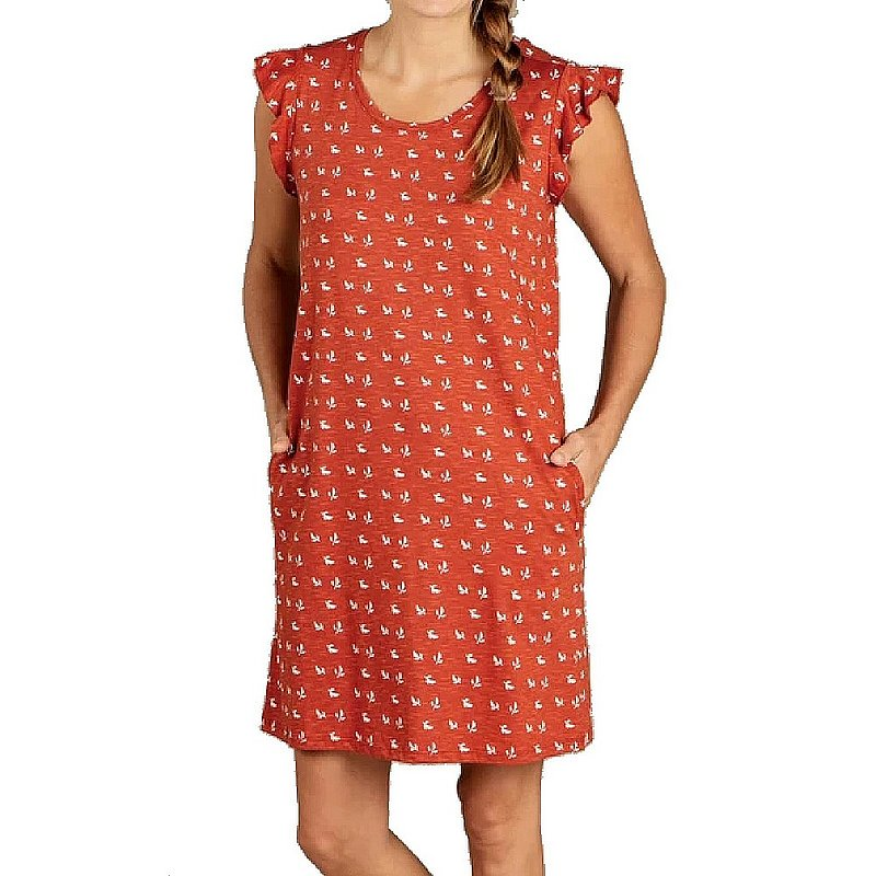 Toad & Co Women's Rufflita Short Sleeve Dress T1782109 (Toad & Co)
