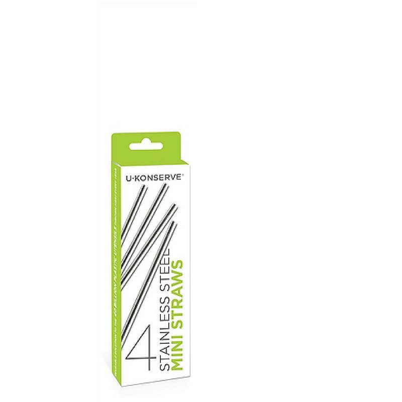 U-konserve Stainless Steel Mini Straws (4-Pack) UK135MC (U-konserve)