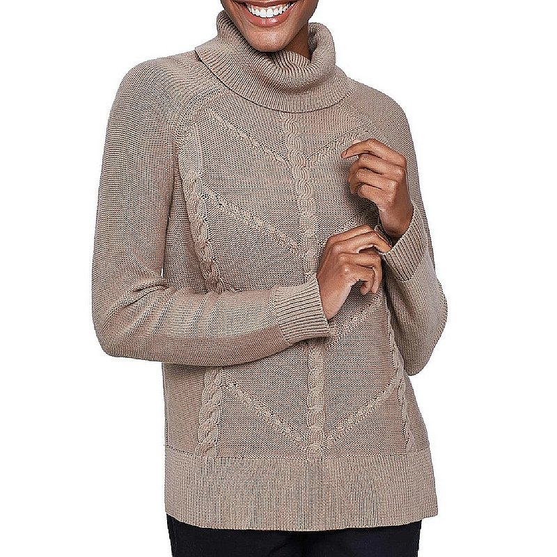 United By Blue Women's Hideaway Cableknit Turtleneck Sweater 201-062 (United By Blue)