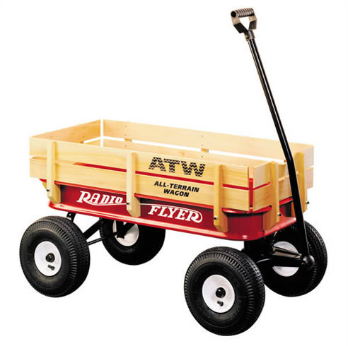 Radio Flyer All-Terrain Steel & Wood Wagon # 32 (Radio Flyer)